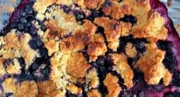 Smuldrepai med blåbær til slikkmunner