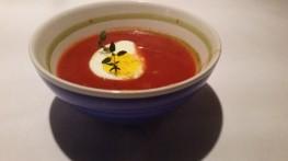 Tomatsuppe med Chili og hvitløk=en het kveld :)