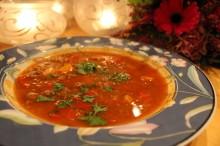 Gulasj-suppe med litt krutt