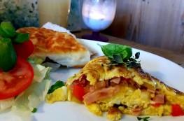 Fylt omelett på kokkens vis