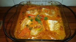 Torsk med spicy saus