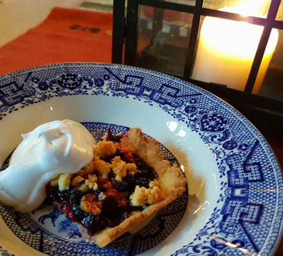 Multe-og blåbærpai – dessert med fjellsmak