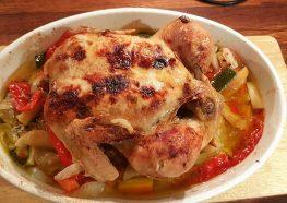 Spicy ovnsstekt kylling